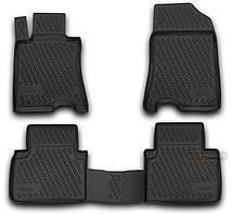 Коврики для HONDA CROSSTOUR с 2012-, 2WD , цвет:черный, NovLine