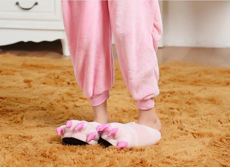 Тапочки теплые для кигуруми бледно-розовые