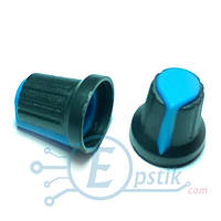 Ручка потенциометра 15x17- Синий