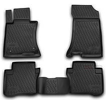 Коврики для HONDA CROSSTOUR с 2012-, 4WD , цвет:черный, NovLine