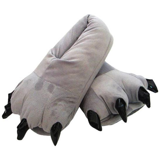 Тапочки теплые для кигуруми  серые