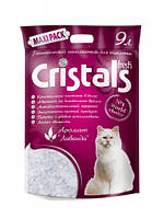 CRISTALS (Кристалс) Fresh 9л (3.9кг)- силикагелевый наполнитель в кошачий туалет с ароматом лаванды