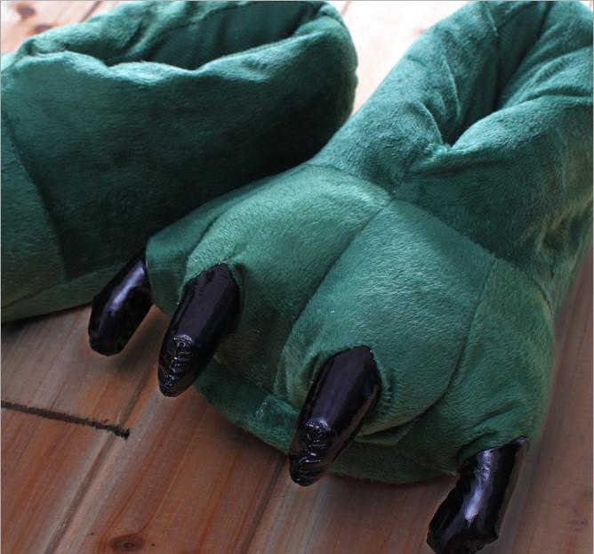 Тапочки теплые для кигуруми  зеленые