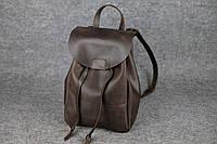 Кожаный рюкзак на затяжке XL | Винтажный Кофе, фото 1