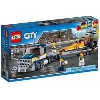 Конструктор LEGO City Грузовик для перевозки драгстера (60151)