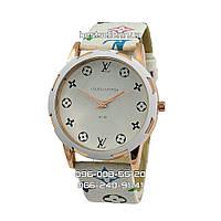 Часы Louis Vuitton B166 Gold/White.