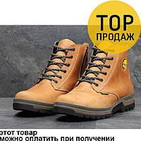 Мужские зимние ботинки Timberland, темно-коричневые / ботинки мужские Тимберленд, кожаные, на меху, модные