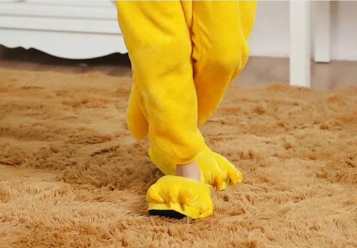 Тапочки теплые для кигуруми  желтые