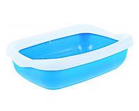 """Туалет для кошек с рамкой """"Beta Blue"""", 43x31x12 см"""