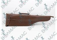 Чехол для ружья 90 см кожаный коричневый