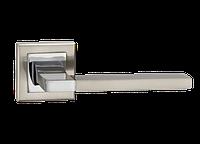 """Дверная ручка на розетке MVM """"QOOB"""" A-2008 SN/CP (матовый никель/полированный хром)"""