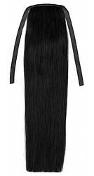 Накладної хвіст з натуральних волосся від 40 див. Колір № 01 Чорний