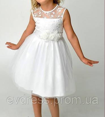 2f3d7a5c255 Платье детское белое вечернее выпускное Д-101208 - Интернет-магазин  ev-dress.