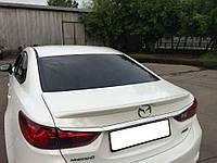 Спойлер лип на багажник Mazda 6 2013-  стекловолокно,под покраску
