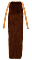 Накладної хвіст з натуральних волосся від 40 див. Колір #06 Шоколад