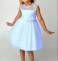 Голубое детское вечернее платье на выпускной в детский сад Д-101208-2