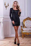 Трикотажное женское черное платье 2444 Seventeen 44-50 размеры