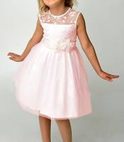 Розовое детское вечернее платье на выпускной в детский сад Д-101208-3