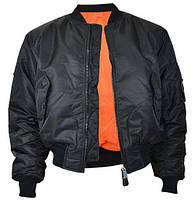 Куртка бомбер (летная) MA-1 черный, Mil-Tec (все размеры)Германия