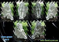 Мраморная скульптура Ангел думает №17 (белый) 25 см.