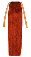 Накладной хвост из натуральных волос 40 см. Цвет #30 Рыжий