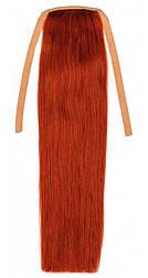 Накладної хвіст з натуральних волосся від 40 див. Колір #30 Рудий