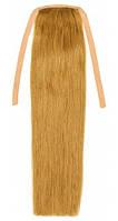 Накладной хвост из натуральных волос 40 см. Цвет #12 Светло-русый, фото 1