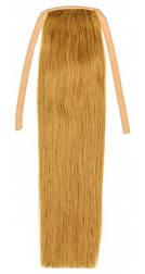 Накладної хвіст з натуральних волосся від 40 див. Колір #12 Світло-русявий