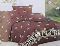 Постельное белье двуспальный Греция коричневый
