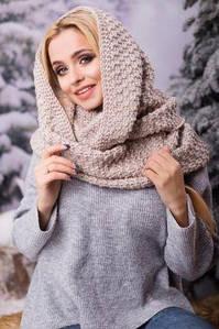 Зимовий бежевий в'язаний хомут/шарф Licato