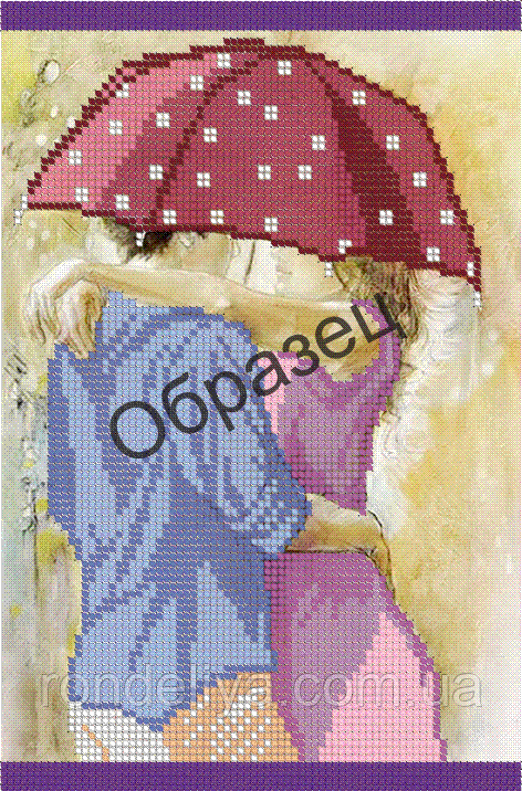 Схема для вышивки бисером «Влюбленные»