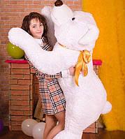 Мишка Друг 1,5 м белоснежный - незабываемое впечатление супер подарок для ребёнка и любимой девушки