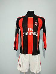 Футбольная форма длинный рукав взрослая Milan