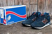 Мужские зимние кроссовки New Balance (Нью Баланс) темно-синие
