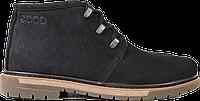 Зимние мужские ботинки на меху из натурального нубука, черные