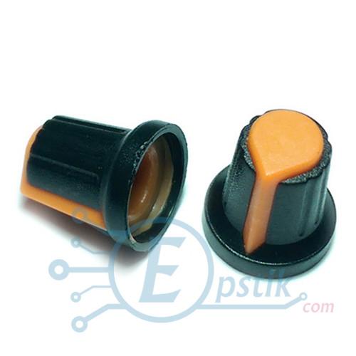 Ручка потенциометра 15x17- оранжевый