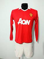 Футбольная форма длинный рукав взрослая Manchester United красная
