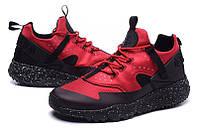 Найк мужские кроссовки NIKE Air Huarache Light Black/red черно-красные