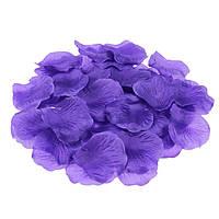 Лепестки роз Сиреневые из ткани 50 грамм 330 шт/уп