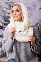 Зимовий молочний в'язаний хомут/шарф Licato uni