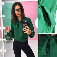 Шёлковая блузочка с завязками