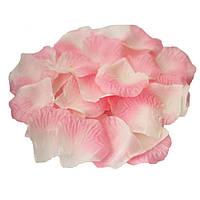 Лепестки роз Розово-персиковые из ткани 50 грамм 330 шт/уп, фото 1