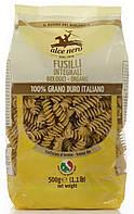 Органические макароны из муки грубого помола fusilli (пшеница твердая), Alce Nero, 500 гр