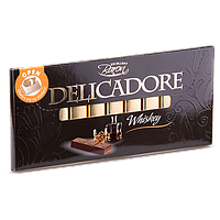Молочный шоколад Baron Delicadore Whiskey с начинкой Виски, 200 г.
