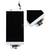 Дисплей + сенсор (модуль) LG D802 G2/ D805 G2 белый оригинал (Китай)