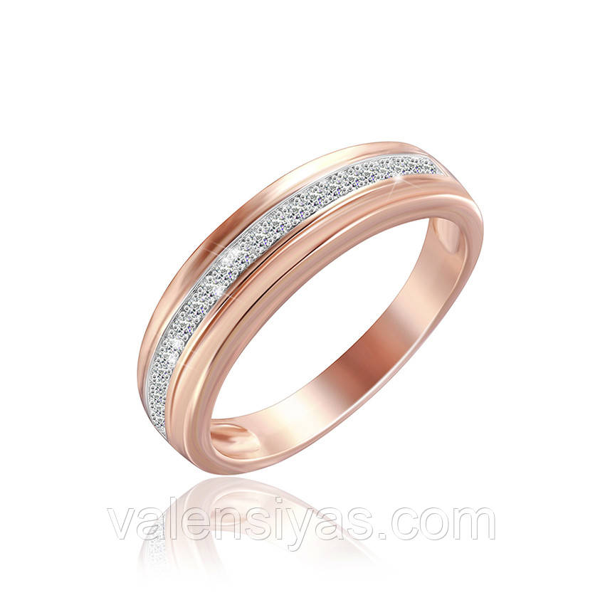 Серебряное кольцо с позолотой КК3Ф/226