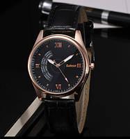 Мужские часы на кожаном ремешке Dobroa черный циферблат mw19-2