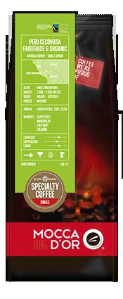 """Кофе в зернах Mocca D""""or Перу Cecovasa Fairtrade Organic 500 гр"""