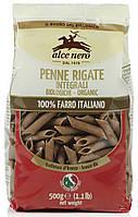 Органические макароны из муки грубого помола penne, (спельта), Alce Nero, 500 гр