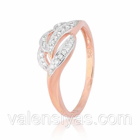 Серебряное кольцо с позолотой КК3Ф/338, фото 2